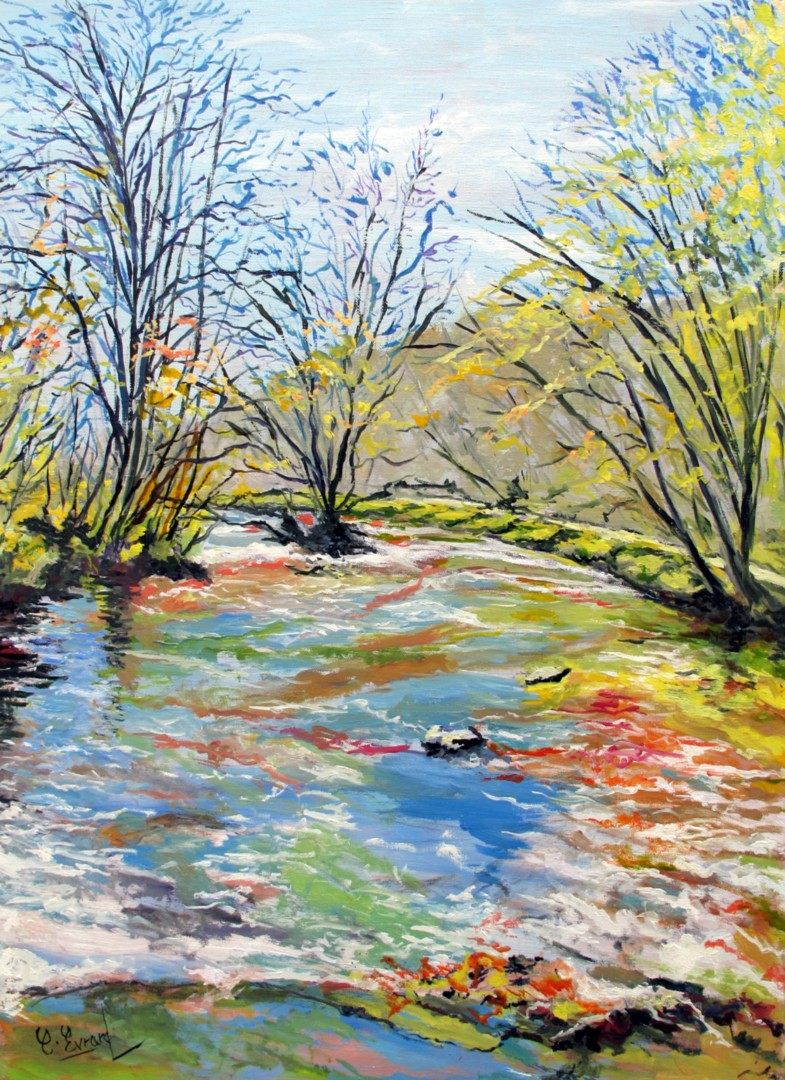 Claude Evrard - EAUX VIVES (rivière l'Aven à PONT-AVEN)