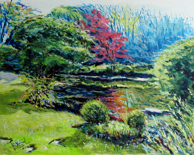 Claude Evrard - Le Jardin japonais dans le parc du  chateau de Courances