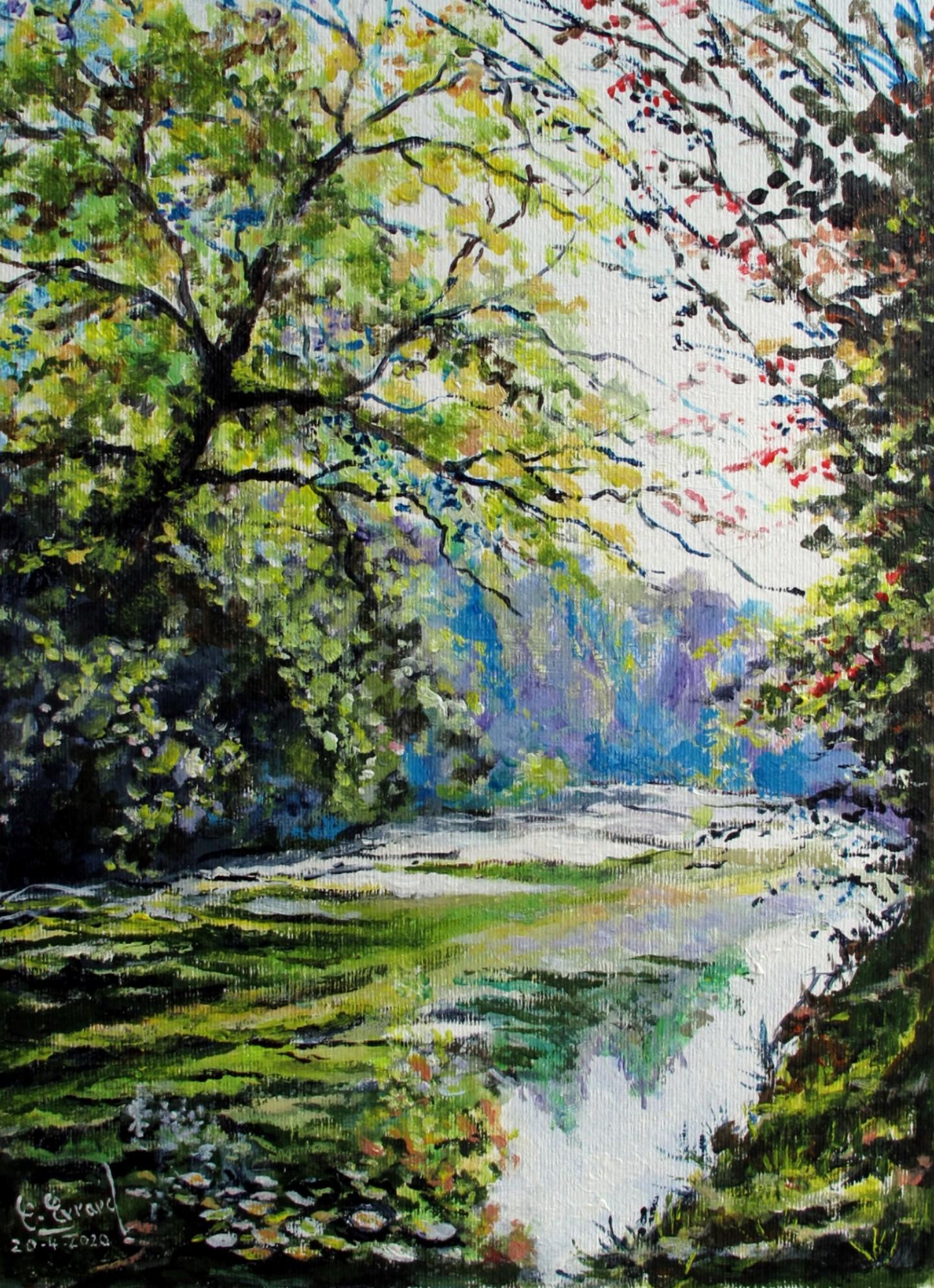 Claude Evrard - Les rives de l'Yerres (Crosne)