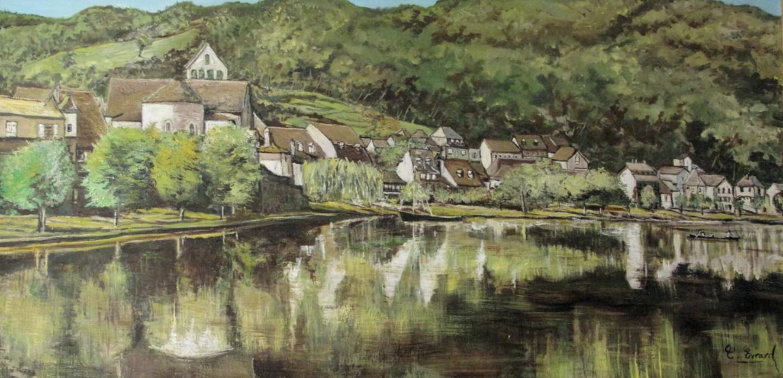 Claude Evrard - Les rives de Beaulieu sur Dordogne