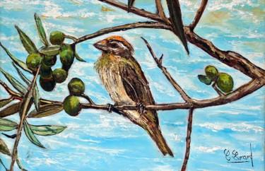 L'oiseau sur l'olivier