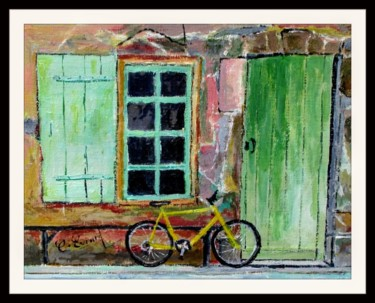 Le vélo jaune ( maison de l'écluse-canal du midi)