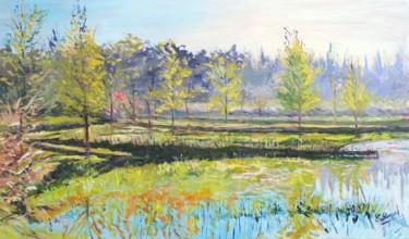 L'étang du parc du moulin à Crosne