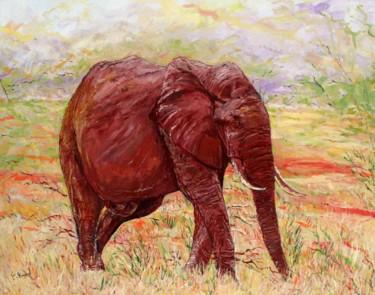 L'éléphant rouge (Réserve du Tsavo au Kenya)